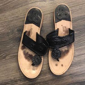 Jack Rogers Used Black sandals
